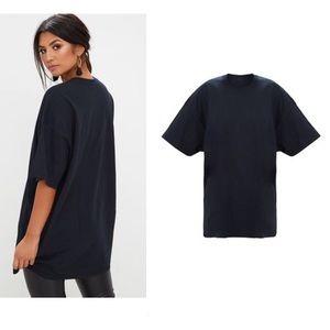 Zara lightweight oversized black crewneck T-shirt